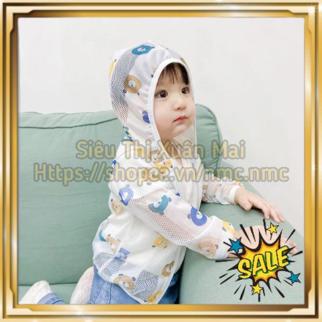 Áo chống nắng cho bé, áo cotton giấy cao cấp