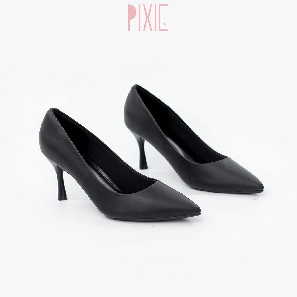 Giày Cao Gót 7cm Basic Mũi Nhọn Êm Chân Pixie X457