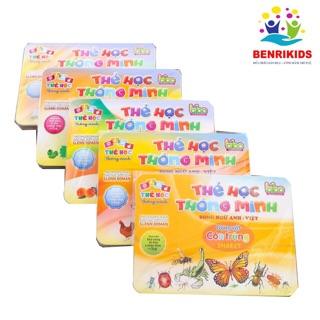 Bộ 5 Thẻ Flashcard Benrikids Tặng Kèm Thẻ Học Chữ Và Số (Chủ Đề Ngẫu Nhiên)