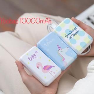 [Mã ELFLASH5 giảm 20K đơn 50K] Pin sạc dự phòng-Tích điện Yoobao 10.000mAh hoạt hình chính hãng