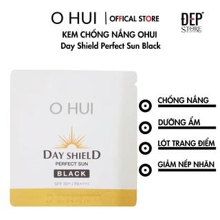 [1GÓI]Gói kem chống nắng OHUI Day Shield Perfect Sun Black 1ml thumbnail