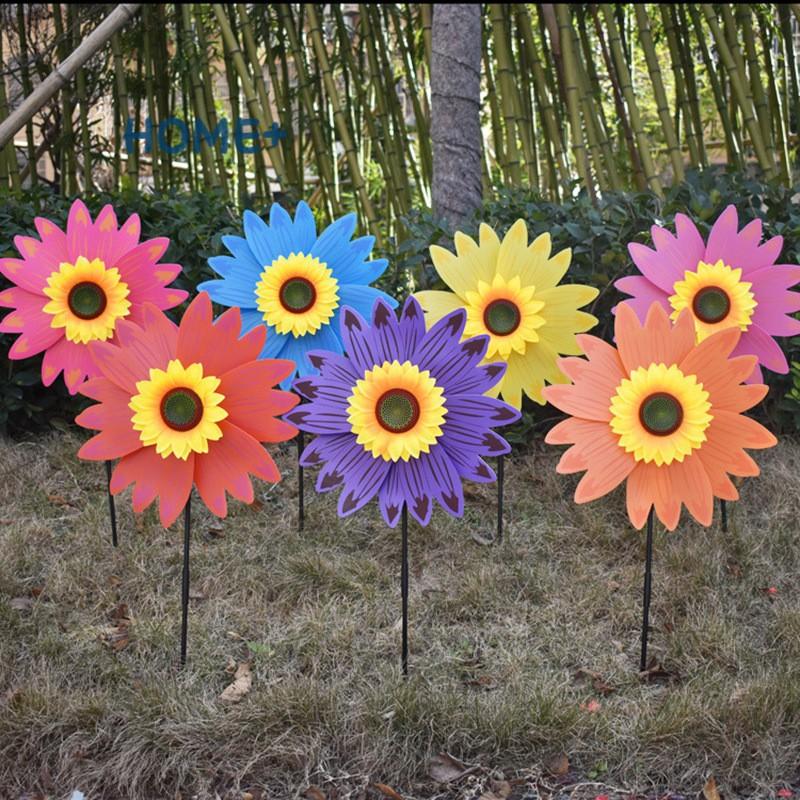 SPINNER Chong Chóng Trang Trí Hình Hoa Hướng Dương Nhiều Màu Sắc