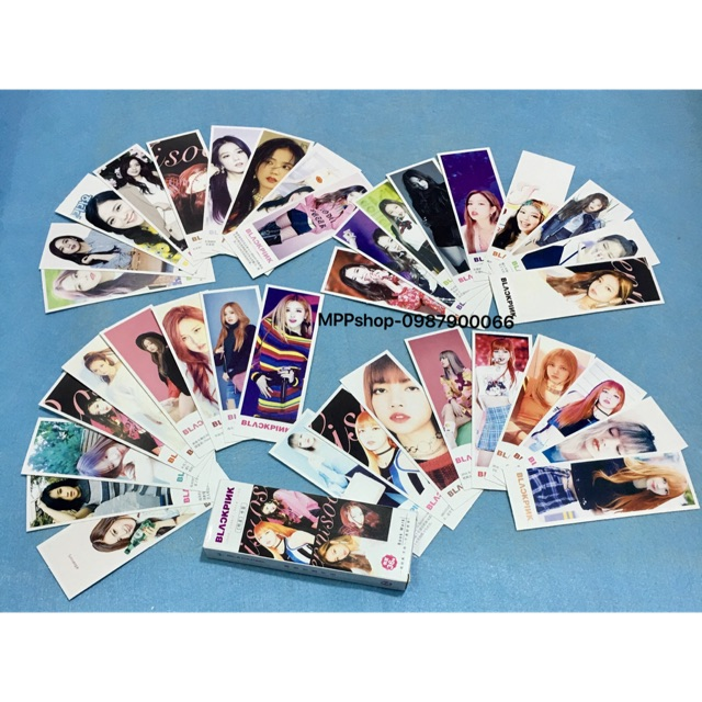 Bộ ảnh bookmack , kẹp sách , đánh dấu trang BLACKPINK gồm 36 tấm ảnh khác nhau