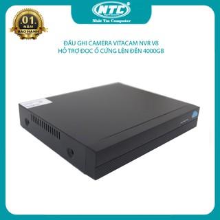 Đầu ghi Vitacam NVR V8 dành cho camera IP không dây, kết nối 8 kênh cùng lúc, mẫu mới nhỏ gọn, hỗ trợ đọc ổ cứng đến 4TB