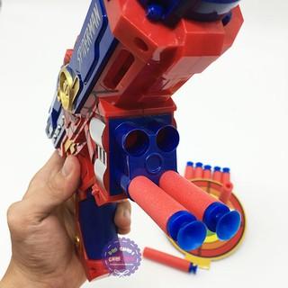 Hộp đồ chơi súng bắn đạn mút xốp mềm người nhện