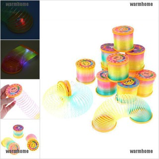warmhome Folding classic gift circle spring toys glow in dark creative magical rainbow thro