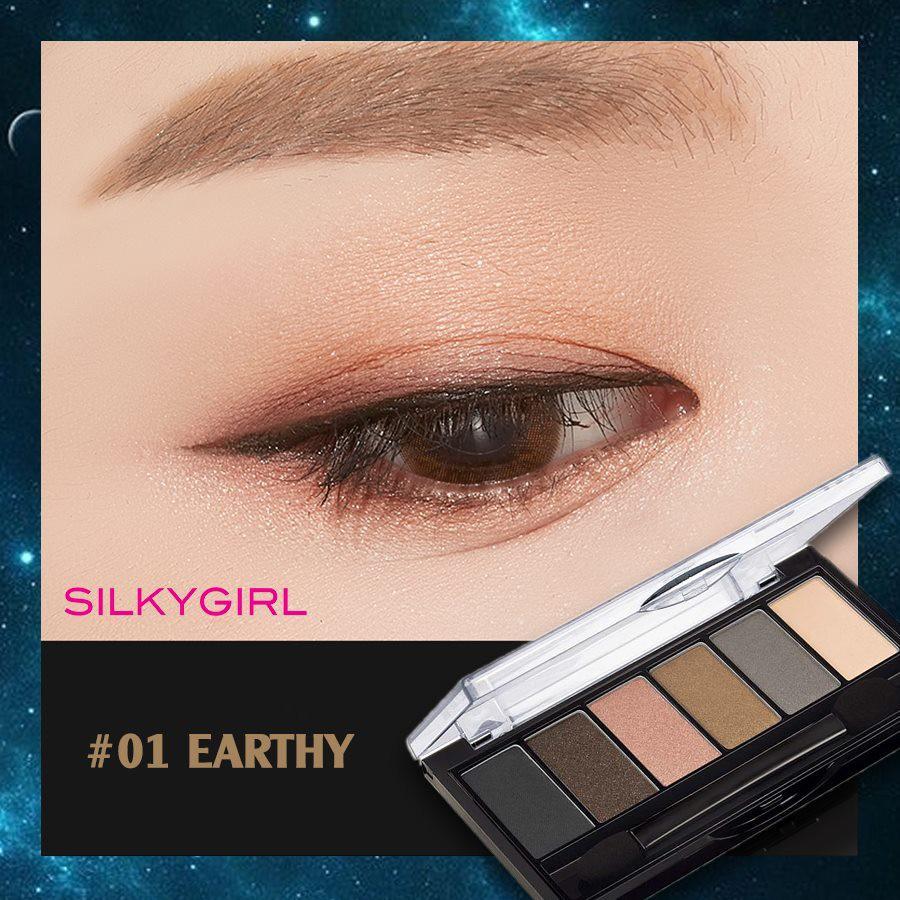 Phấn Mắt 6 Ô Màu Nhũ Lì Tone Tây SILKYGIRL Truly Nude Eye Shadow Palette 01  Earthy 6g | Shopee Việt Nam