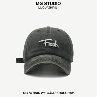"""Mũ bóng chày MG STUDIO thêu hoạ tiết """"Flash"""" nổi phong cách bạt màu độc đáo"""