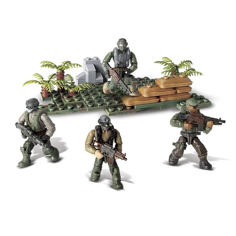Bộ đồ chơi lắp ráp mô hình lính rừng già nhiệt đới quân sự hiện đại Call of Duty MEGA...