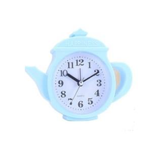 Đồng hồ báo thức để bàn hình ấm bình trà