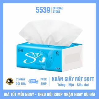 Khăn giấy rút FREESHIP Khăn giấy rút đa năng Soft siêu dai, trắng mịn, nhỏ gọn, an toàn tiện lợi - Shop 5539 thumbnail