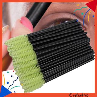 CODseller 50Pcs Women Eyelash Brushes Disposable Plastic Eye Makeup Cosmetic Beauty Tools