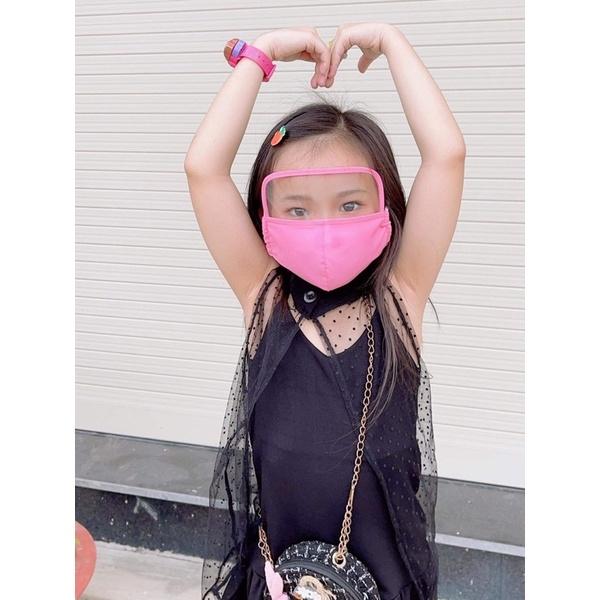 Khẩu trang kính cho bé trai và gái 8-15 tuổi có dây điều chỉnh độ rộng