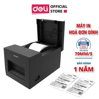 Máy in hóa đơn nhiệt Deli - màu đen - dòng PWs hỗ trợ kết nối bluetooth không dây thumbnail