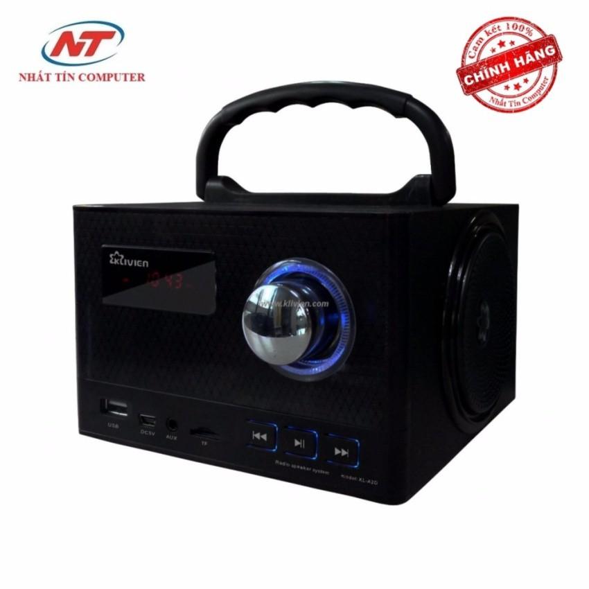 Loa nghe nhạc Klivien KL-A2D có màn hình LCD (Đen)
