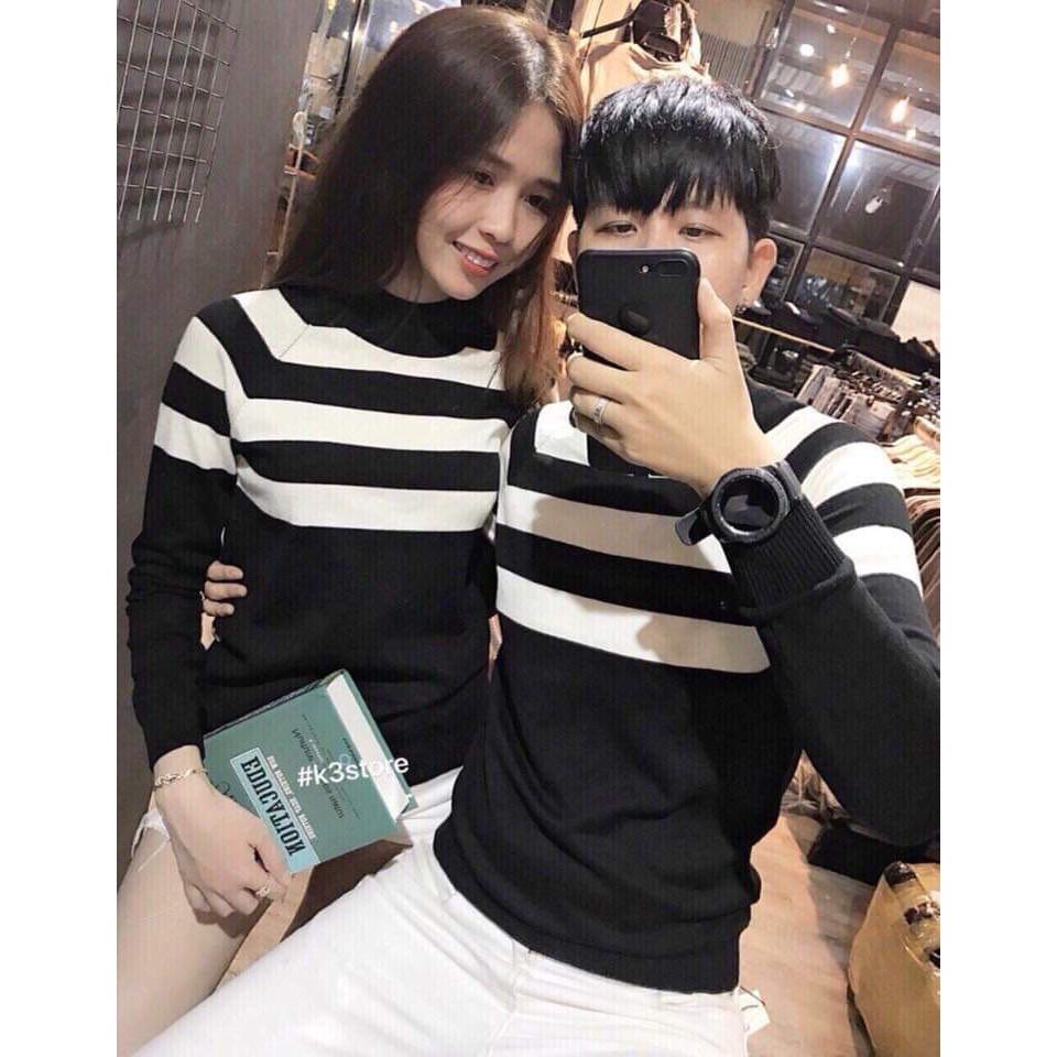 [Rẻ Vô Địch] Áo khoác len nam nữ quảng châu cổ lọ tay dài thời trang | Áo len nam nữ cặp đôi Hàn Quốc đẹp ❤️