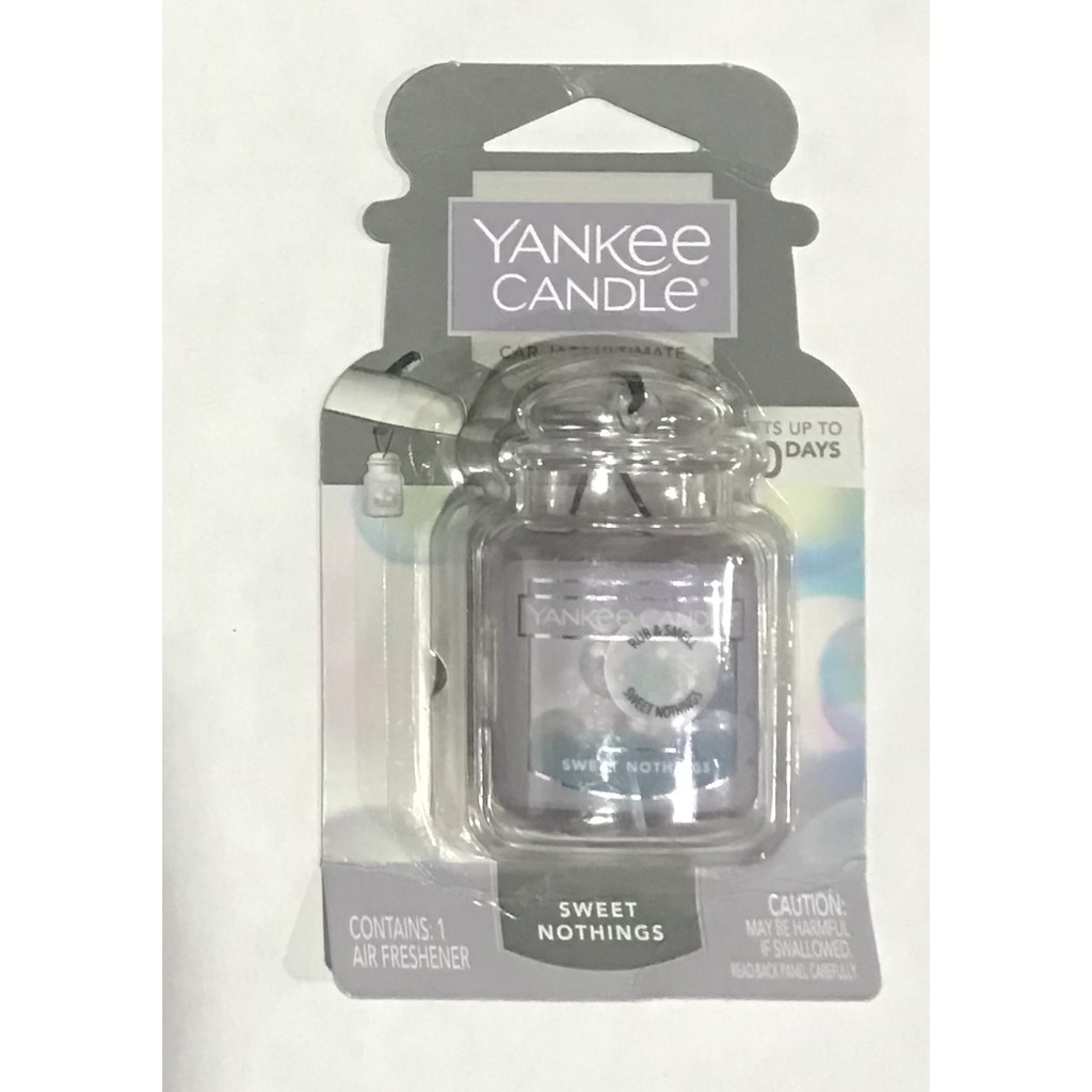 Sáp thơm dạng treo Yankee Candle Car Jar Ultimate Sweet Nothing (Mỹ)