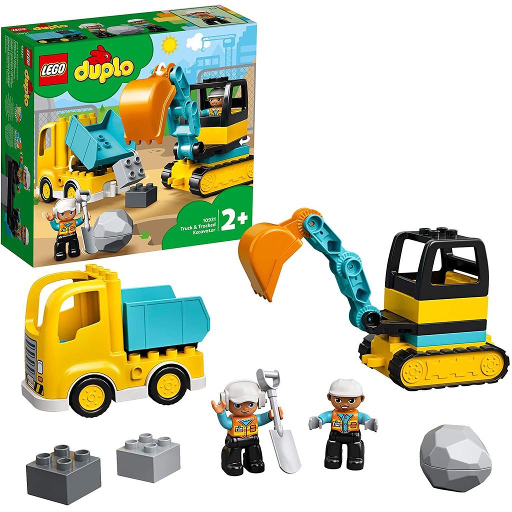 LEGO DUPLO Xe Tải & Xe Xúc Của Bé 10931 (20 chi tiết)