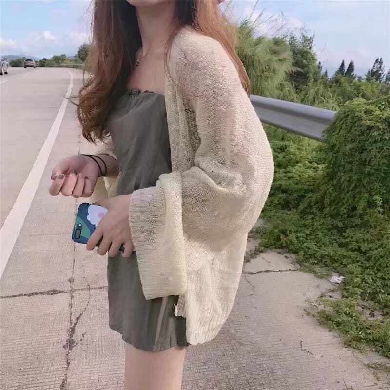 Áo cadigan giấy mùa hè Hàn Quốc