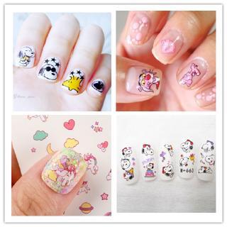 Mới Sticker Dán Móng Tay Hình Hoạt Hình Sesame Street / Snoopy / Kỳ Lân / Sesame Street Đáng Yêu Cho Bé