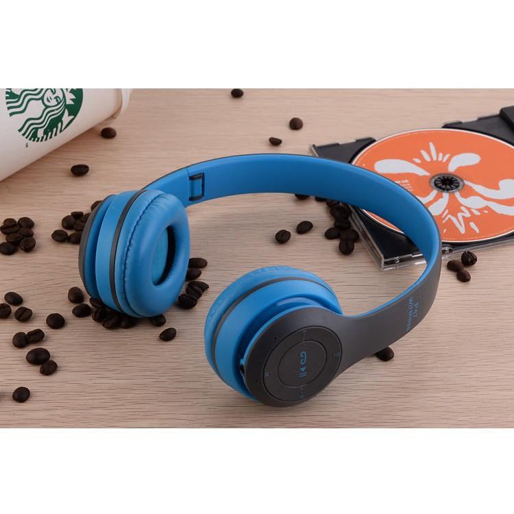 Tai nghe chụp tai Bluetooth P47 có khe thẻ nhớ - Cao cấp