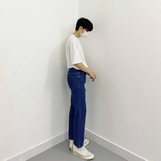 [Mã giảm 5% tối đa 15k cho Follower mới] Quần jeans basic dáng suông dễ mặc (Urbane Studios)