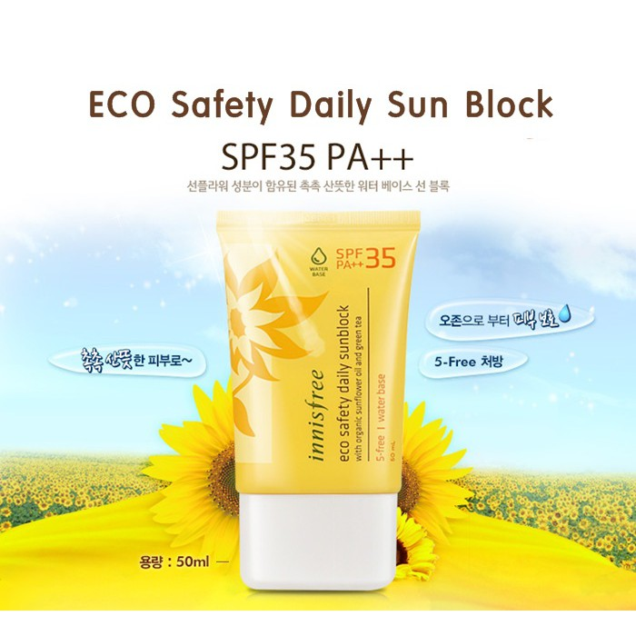 Kem Chống Nắng Innisfree Eco Safety Daily Sunblock SPF35 PA ++