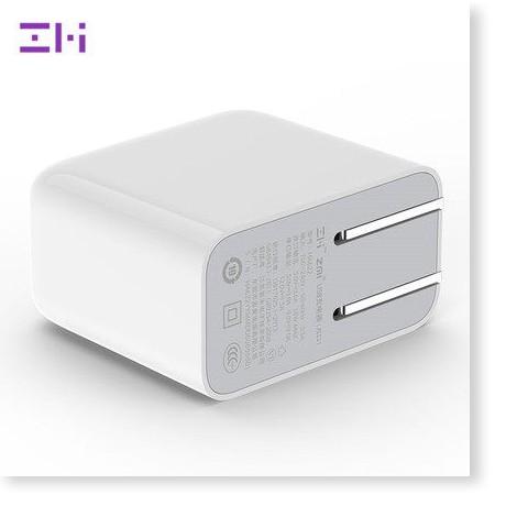 Cốc sạc Xiaomi ZMI 2 cổng USB phiên bản 2017 có hỗ trợ sạc nhanh QC3.0 Củ sạc nhanh 2 USB QC 3.0 ZMI HA622  - ChuyenMi