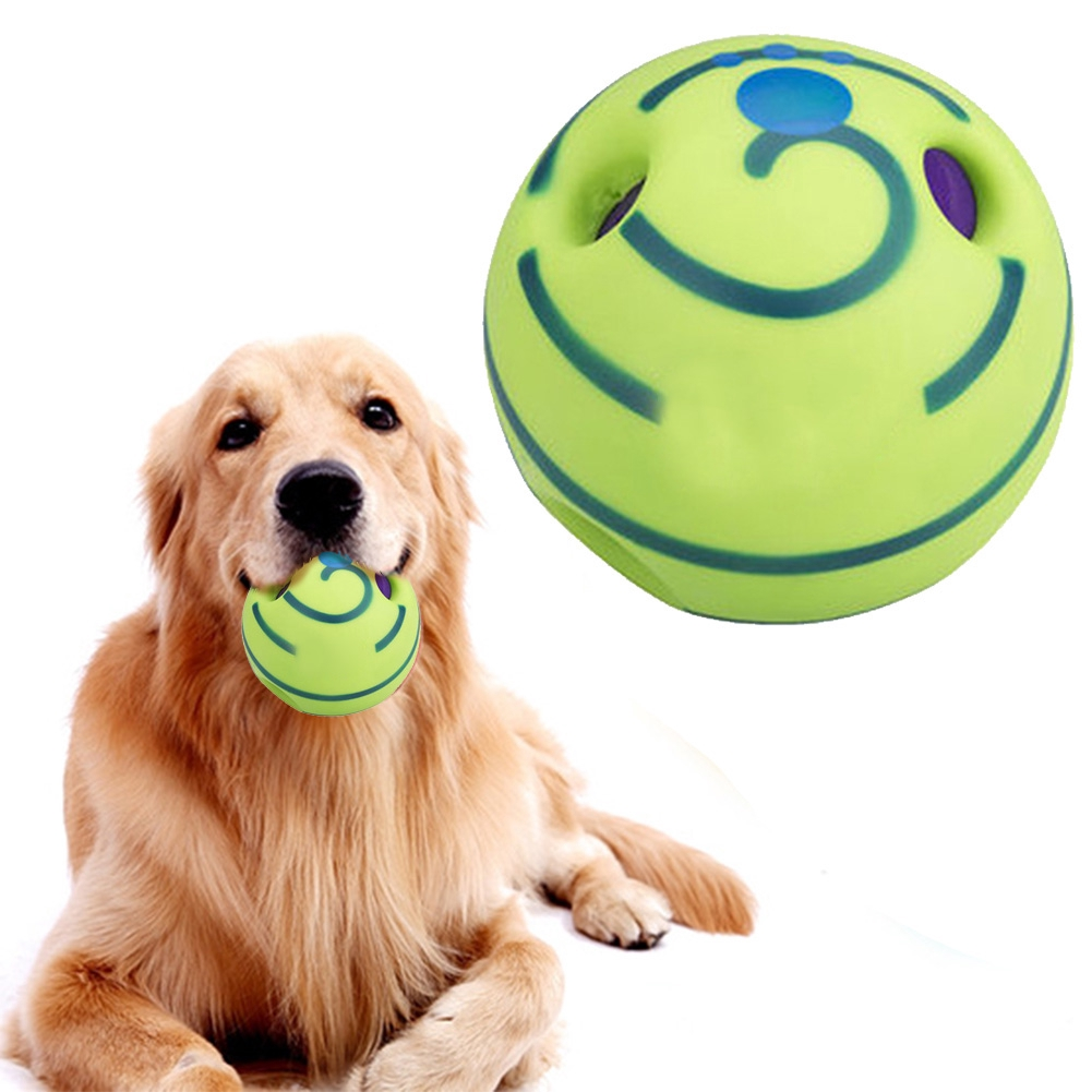 Wobble Wag  Ball Dog Cat Indoor Outdootr Pet Squeak Toy Grinding teeth Rolling