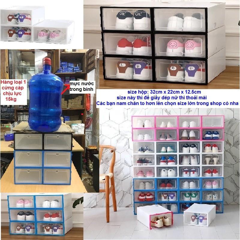 Hộp Đựng Giày Nắp Nhựa Cứng Lắp Ráp Thông Minh ( Quà Tặng Xinh Xắn )