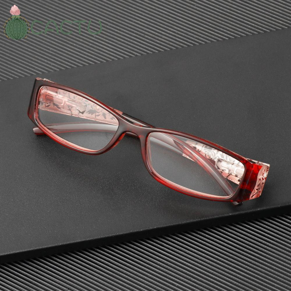 🌵CACTU🌵 Men Women Fashion Anti Blue Light Reading Glasses Radiation Protection Printing Eyeglasses Presbyopic Eyewear Vision Care Ultralight Anti-blue Rays Retro Classic Computer Goggles
