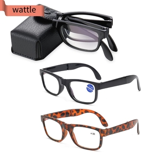 WATTLE Portable Vision Care with Glasses Case Eyewear Anti Blue Light Folding Reading Glasses