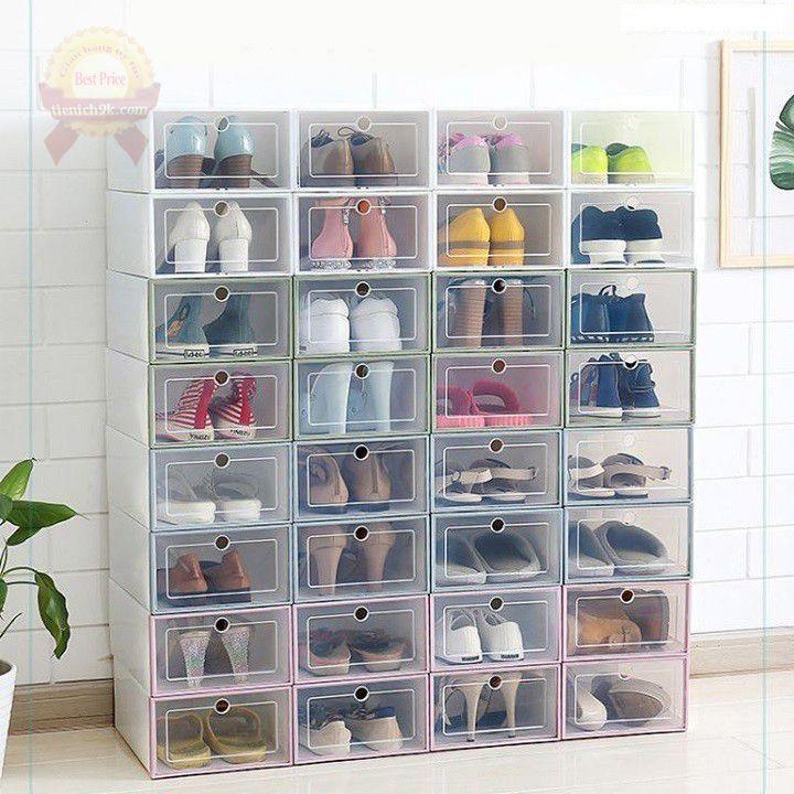 Tủ để giầy hộp giày xếp tầng bằng nhựa chia ngăn cao gọn gàng ngăn nắp F753SP1