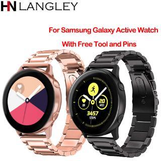 Dây Đeo Bằng Thép Không Gỉ 18 20 22 24mm Cho Samsung Galaxy Watch Active S2 S3 S4 Classic Galaxy 42 / 46mm