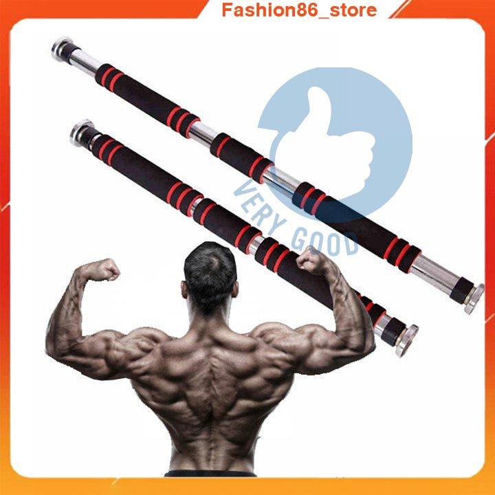 Thanh tập xà đơn treo tường gắn cửa fashion86_store nhiều cỡ từ 62-150cm tùy chỉnh phù hợp tập gym tại nhà tăng c
