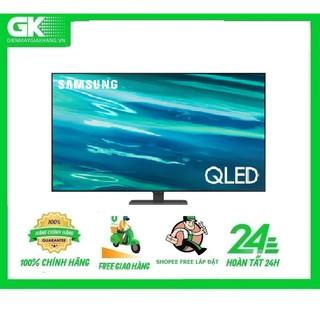 QA50Q80A -MIỄN PHÍ CÔNG LẮP ĐẶT-Smart Tivi QLED 4K 50 inch Samsung QA50Q80A Mới 2021 thumbnail