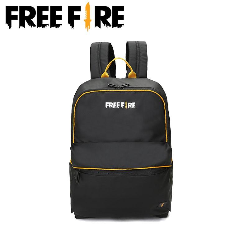 Balo Free Fire màu đen 18L kiểu dáng thể thao dành cho cả nam và nữ
