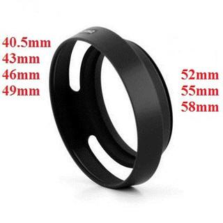 Hood kim loại cho ống kính đủ cỡ phi 40,5 đến 77mm (Hood lỗ) thumbnail