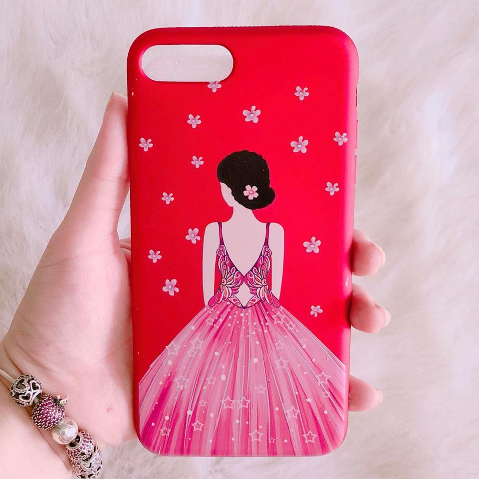 Ốp lưng iPhone 7 Plus / iPhone 8 Plus cô gái vô cùng nữ tính
