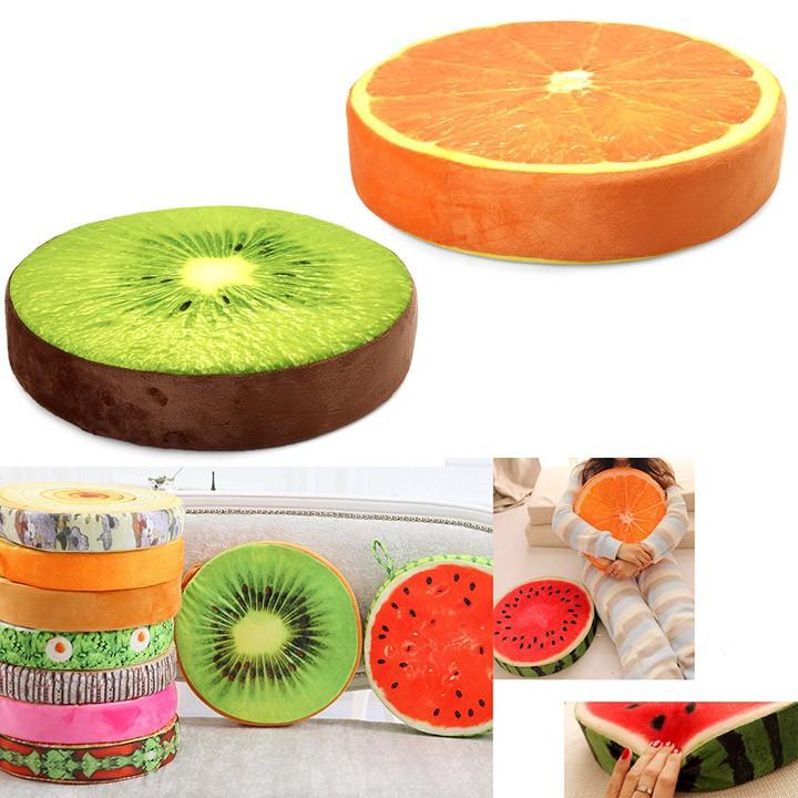 Gối trái cây 3D trang trí, ngồi, tựa lưng