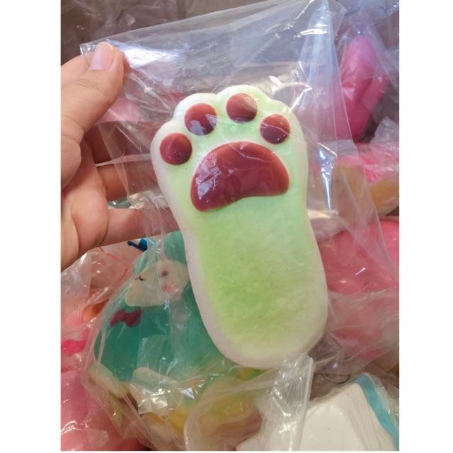 Squishy chân mèo màu xanh lá(có bao bì)_nhập mã ANHTH723 giảm 15.000d cho đơn hàng đầu tiên