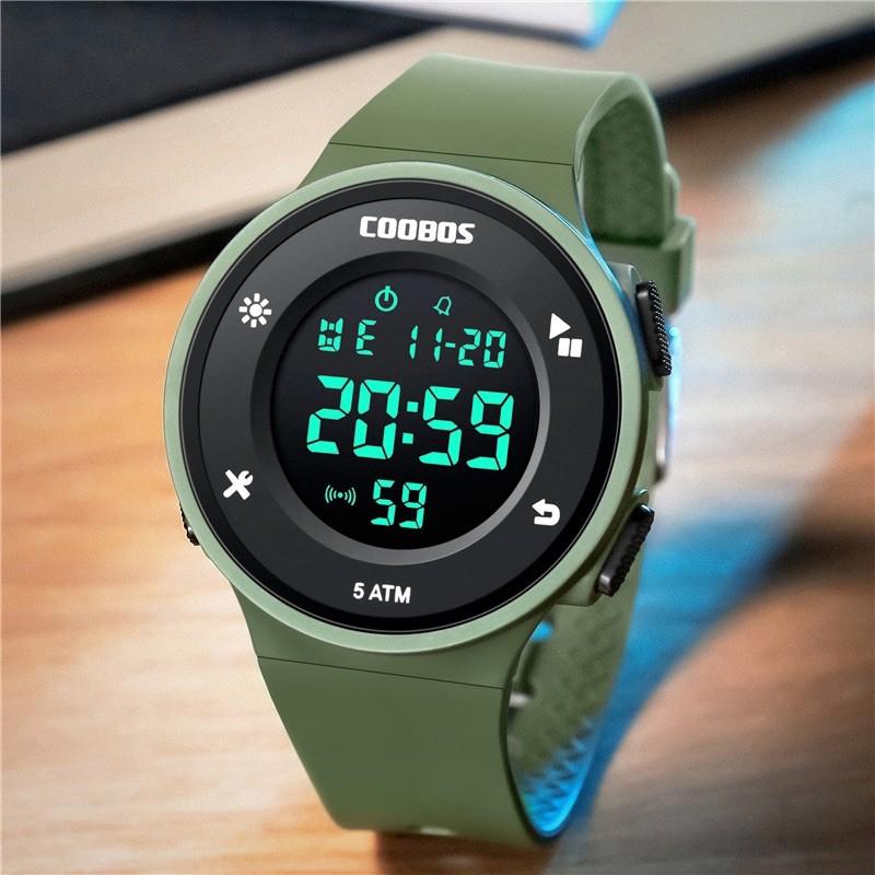 Đồng hồ trẻ em nam cao cấp cooboss mẫu 0991 màu xanh