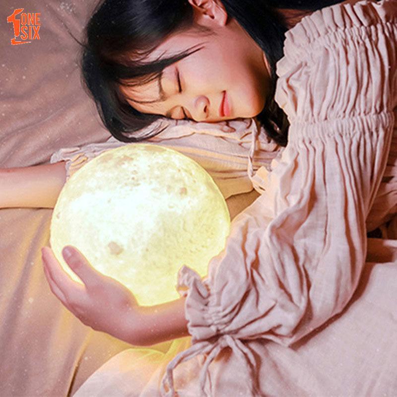 Đèn ngủ hình mặt trăng 3D sinh động dùng trang trí