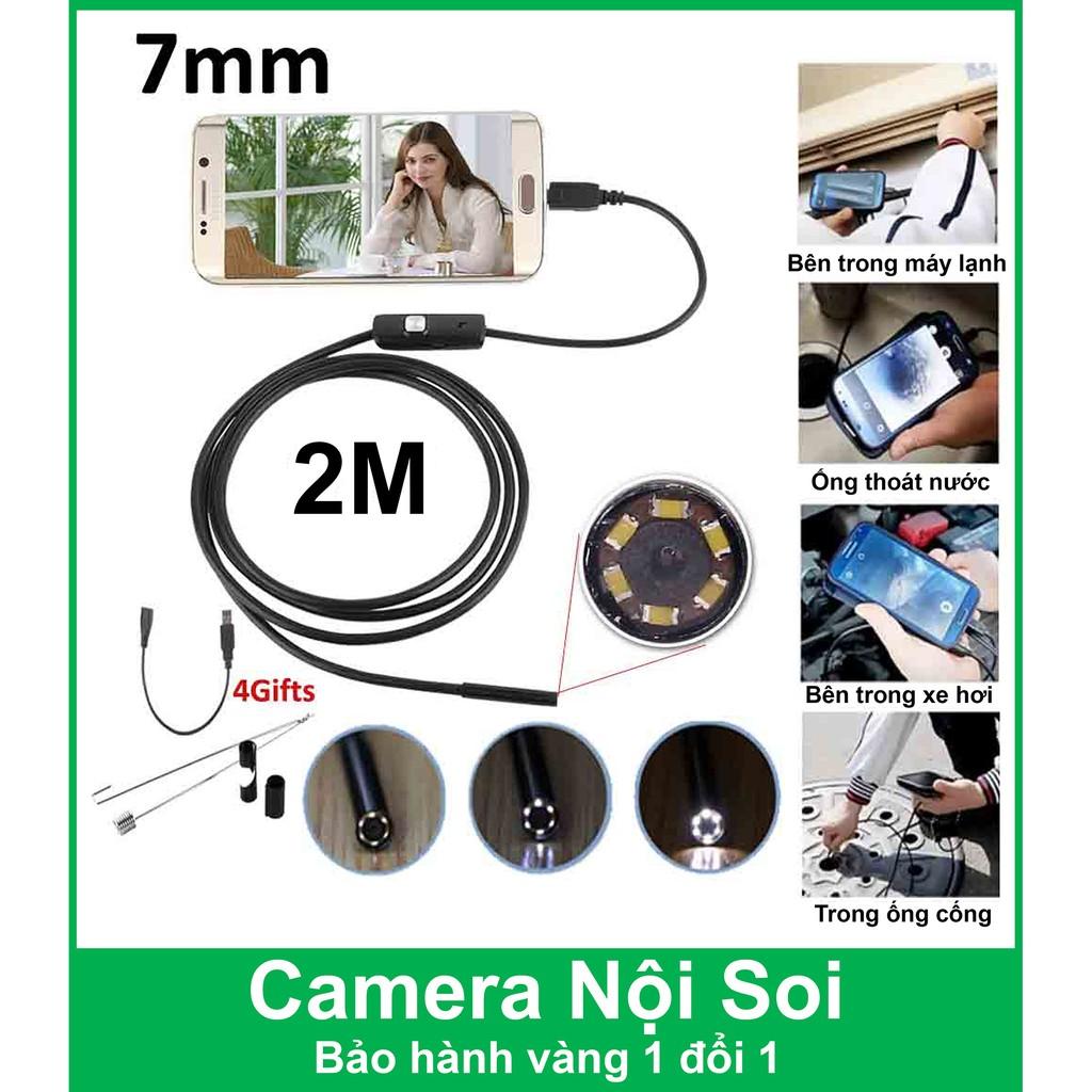 Camera nội soi cho điện thoại và máy tính 7mm, 2M - Chống nước IP67