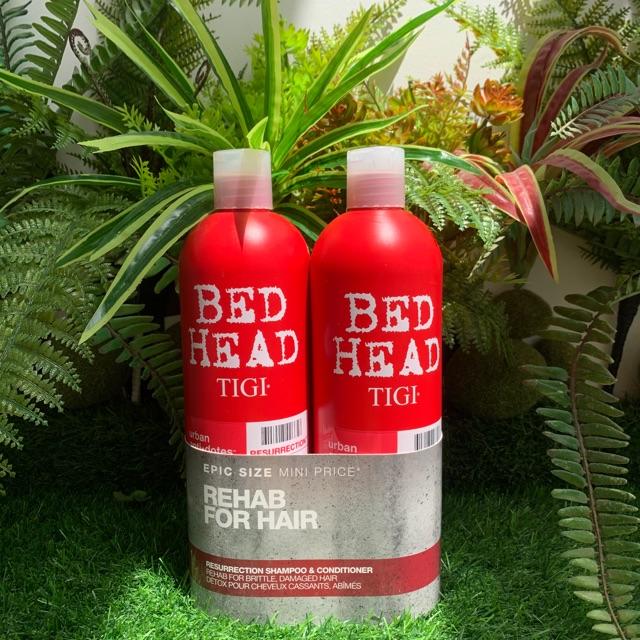 Cặp Dầu Gội Dầu Xả Tigi Màu Đỏ Bed Head Hồi Sinh Tóc Hư Tổn(Mỗi chai 750ml)  | Shopee Việt Nam