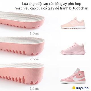 Lót giày nữ độn đế cao su non tổ ong tăng chiều cao 1.5cm, 2.5cm, 3cm - buyone - BOPK156
