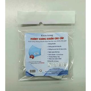 Hình ảnh Khẩu trang vải kháng khuẩn cao cấp Poêmy - Khẩu trang kháng khuẩn 2 lớp-3