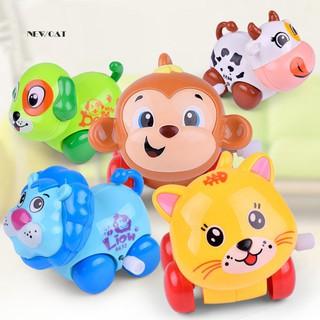 ღNK_Funny Cartoon Animal Cat Dog Lion Clockwork Toy Infant Kids Wind Up Xmas Gift