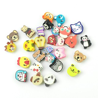100Pcs Mixed Fimo Polymer Clay Animals Spacer Beads 10x9mm 10x10mm