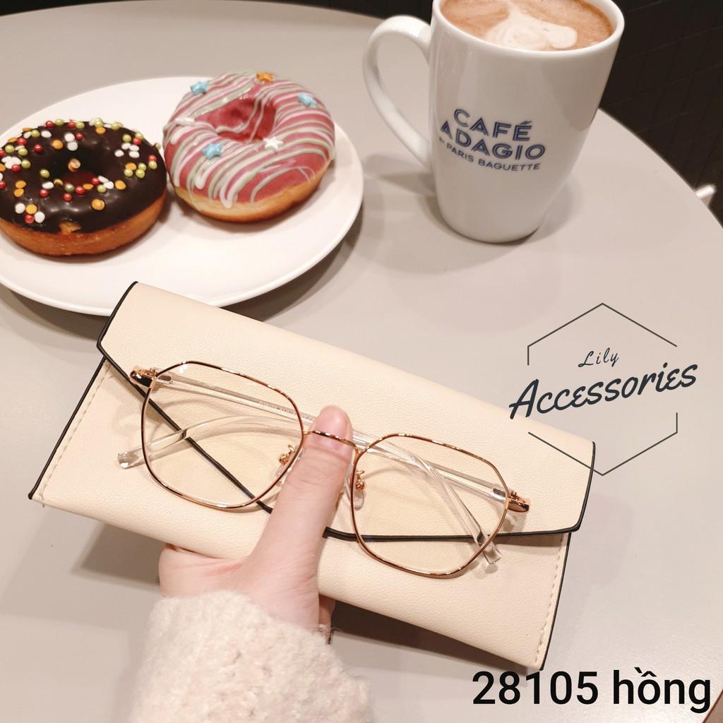 [HOT] Gọng kính mắt lục giác cận kim loại Hàn Quốc mã 2810
